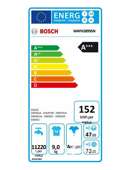 Skalbyklė Bosch WAYH2899SN