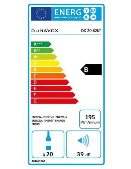 Vyno šaldytuvas Dunavox DX-20.62KF