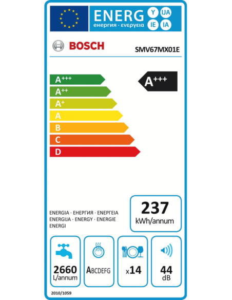 Indaplovė Bosch SMV67MX01E