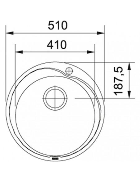 Plautuvė Ronda ROX 610-41 Nerūdijančio plieno korpuso