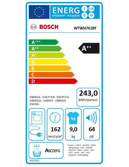 Džiovyklė Bosch WTWH761BY