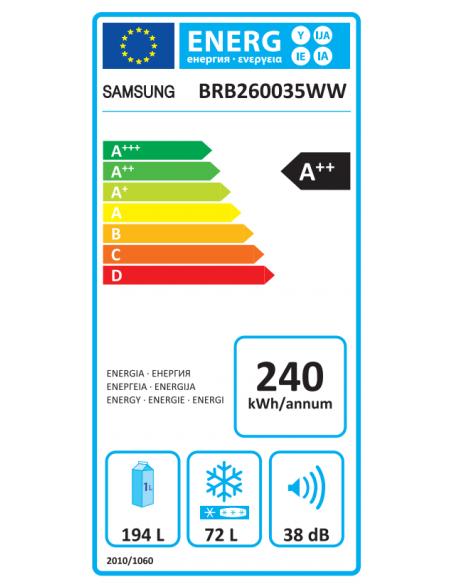 Šaldytuvas Samsung BRB260035WW/EF