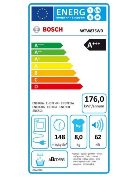 Džiovyklė Bosch WTW875W0