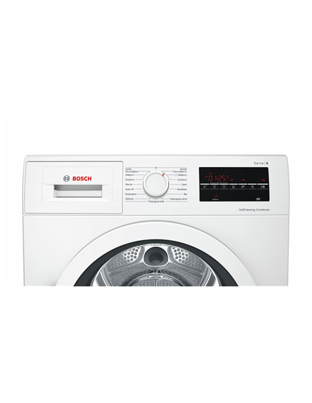 Bosch Dryer Machine WTW85L48SN Energy efficiency class A++, Condensed, 8 kg, Condensation, LED, Depth 60 cm, White, SelfCleaning