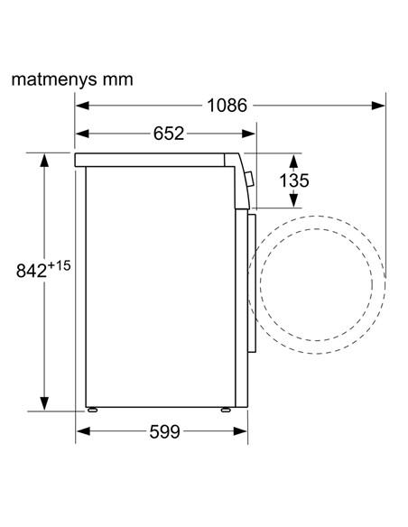 Bosch Dryer mashine WTX8HKL9SN Energy efficiency class A++, Front loading, 9 kg, Heat pump, LED, Depth 60 cm, White, SelfCleanin