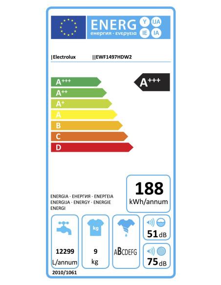 Skalbyklė ELECTROLUX EWF1497HDW