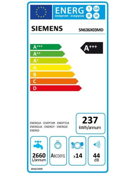 Indaplovė Siemens SN636X03MD