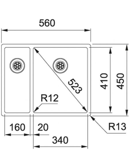 Plautuvė Franke BXX260/160-34-16