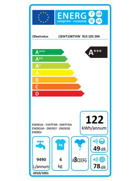 Skalbyklė ELECTROLUX EWT1367VIW